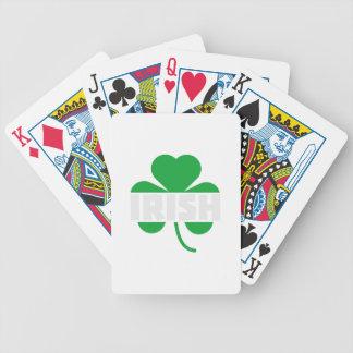Irish cloverleaf shamrock Z2n9r Bicycle Playing Cards