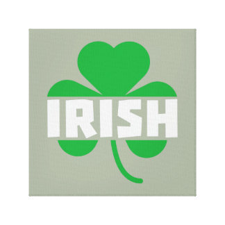 Irish cloverleaf shamrock Z2n9r Canvas Print