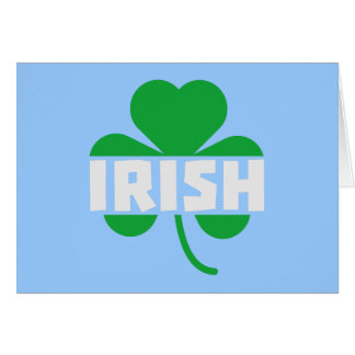 Irish cloverleaf shamrock Z2n9r Card