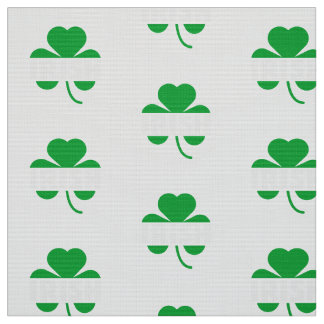 Irish cloverleaf shamrock Z2n9r Fabric