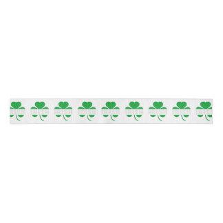 Irish cloverleaf shamrock Z2n9r Grosgrain Ribbon
