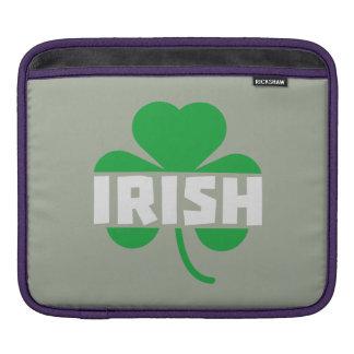 Irish cloverleaf shamrock Z2n9r iPad Sleeve