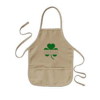 Irish cloverleaf shamrock Z2n9r Kids Apron