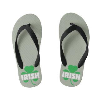 Irish cloverleaf shamrock Z2n9r Kid's Flip Flops