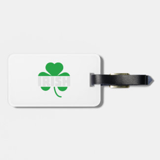 Irish cloverleaf shamrock Z2n9r Luggage Tag
