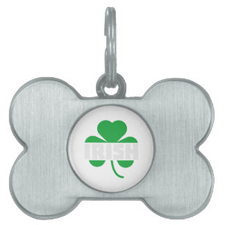 Irish cloverleaf shamrock Z2n9r Pet Name Tag