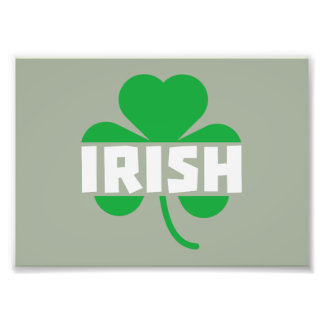Irish cloverleaf shamrock Z2n9r Photo Print