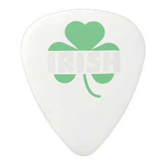 Irish cloverleaf shamrock Z2n9r Polycarbonate Guitar Pick