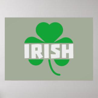Irish cloverleaf shamrock Z2n9r Poster