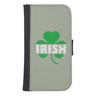 Irish cloverleaf shamrock Z2n9r Samsung S4 Wallet Case