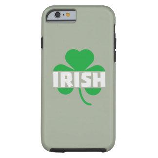 Irish cloverleaf shamrock Z2n9r Tough iPhone 6 Case
