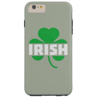 Irish cloverleaf shamrock Z2n9r Tough iPhone 6 Plus Case
