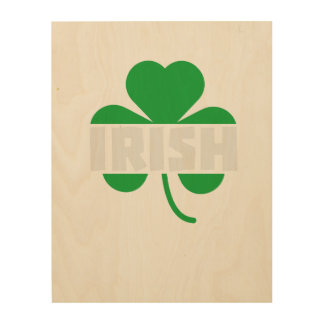 Irish cloverleaf shamrock Z2n9r Wood Wall Art