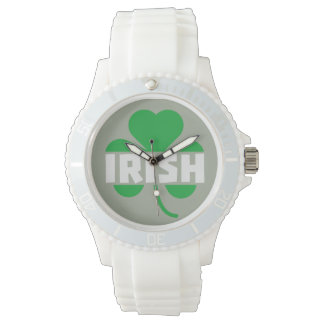 Irish cloverleaf shamrock Z2n9r Wrist Watch