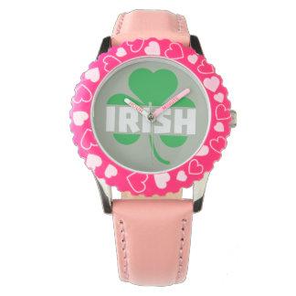 Irish cloverleaf shamrock Z2n9r Wrist Watches
