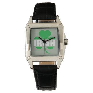 Irish cloverleaf shamrock Z2n9r Wristwatch