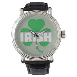 Irish cloverleaf shamrock Z2n9r Wristwatches