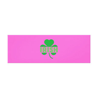 Irish cloverleaf shamrock Z9t2d Canvas Print