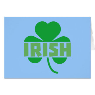 Irish cloverleaf shamrock Z9t2d Card
