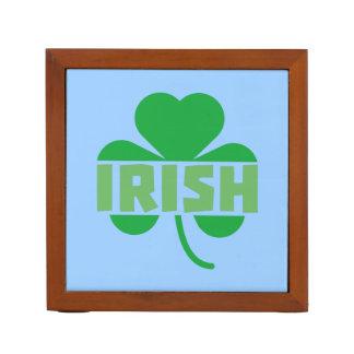 Irish cloverleaf shamrock Z9t2d Desk Organizer
