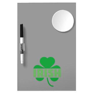 Irish cloverleaf shamrock Z9t2d Dry Erase Board With Mirror