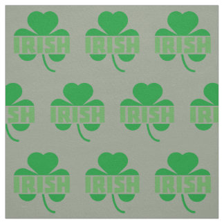 Irish cloverleaf shamrock Z9t2d Fabric