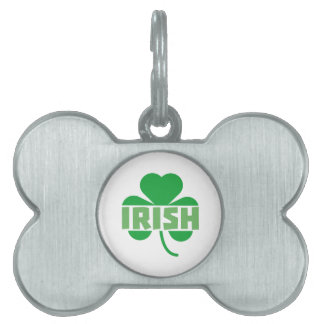 Irish cloverleaf shamrock Z9t2d Pet Name Tag