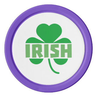 Irish cloverleaf shamrock Z9t2d Poker Chips