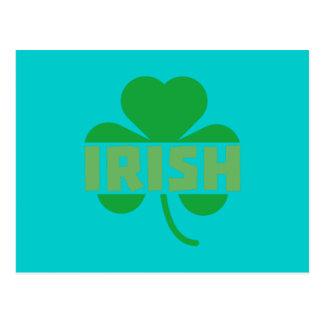 Irish cloverleaf shamrock Z9t2d Postcard