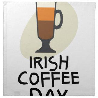 Irish Coffee Day - Appreciation Day Napkin