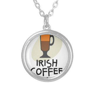 Irish Coffee Day - Appreciation Day Silver Plated Necklace