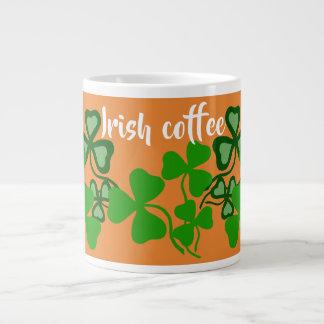 Irish coffee, Ireland shamrock, orange, clover 9a Large Coffee Mug