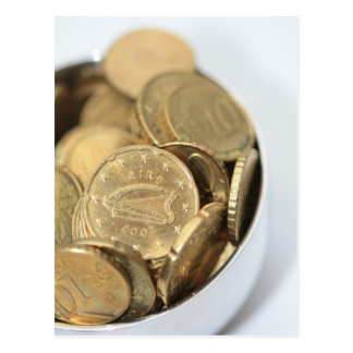 irish coins pot of gold for st patrick's day postcard