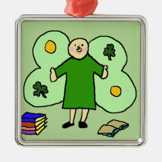 Irish Confuzzled Fae Square Ornament