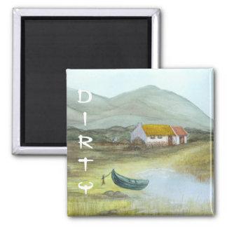 Irish Cottage Dishwasher Magnet DIRTY by Bonhovey