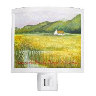 Irish Cottage on the Fens Night Light #4