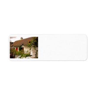 Irish Cottage Return Address Labels