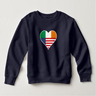 Irish country, Irish - America, the USA. Heart, Sweatshirt