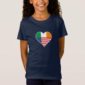 Irish country, Irish - America, the USA. Heart, T-Shirt