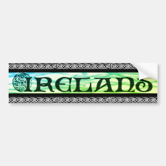 Irish country Sticker, sticker, Celtic knot, Bumper Sticker