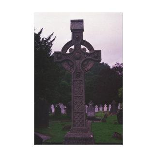Irish Cross Headstone: Canvas