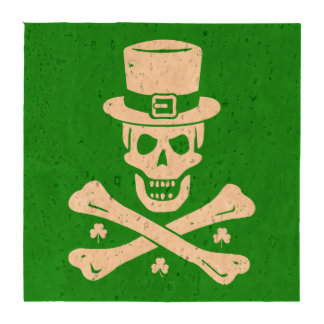 Irish Crossbones Drink Coaster