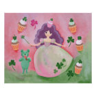 Irish Cupcake Princess Painting Poster