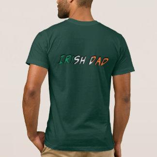 Irish Dad Ireland Flag Typography T-Shirt