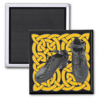 Irish Dance Hard Shoes on Celtic Knot Magnet