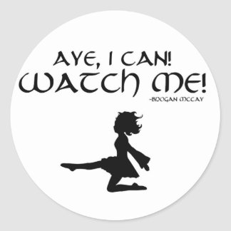 "Irish Dancer ""Aye I Can!"" Sticker"