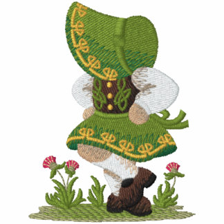 Irish  Dancer Embroidered Hooded Sweatshirt