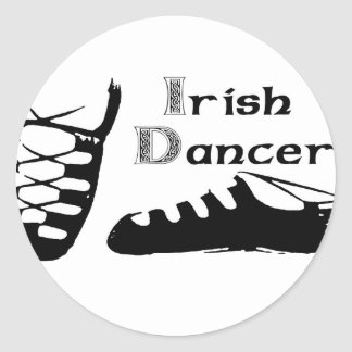 Irish Dancer Ghillies Classic Round Sticker
