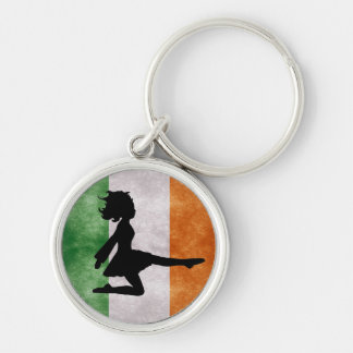 Irish Dancer Irish Flag Keychain