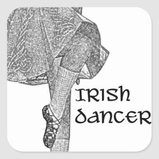 Irish Dancer Kick Skirt Sticker